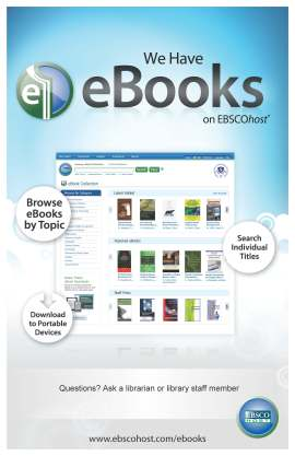 eBooks on EBSCOhost Poster