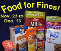 Food For Fines Nov. 23 - Dec. 13
