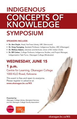 Indigenous Concepts of Knowledge Symposium